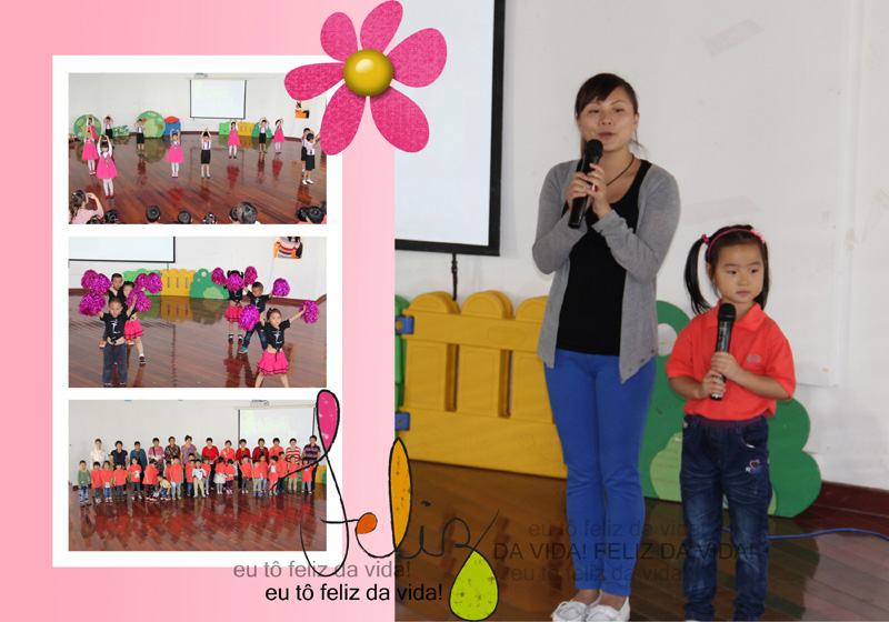 朵朵幼儿园开展了重阳节小舞台活动